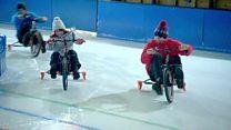 دوچرخهسواری روی یخ؛ ورزش تازهای که در بریتانیا محبوب شده است