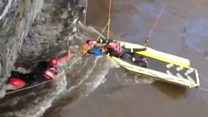 Injured canoeist rescued from river