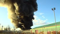 Large fire breaks out at scrapyard