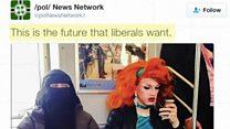 ムスリム女性とドラァグ・クイーンが隣同士に 写真で論争