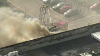 Fire rips through Asda supermarket