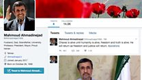 'Follow me at @Ahmadinejad1956'