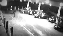 CCTV shows moment PSNI officer comed under fire