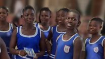 Girl guides helping to clean Ghana's air