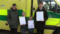 Praise for children who helped save their dad's life