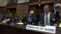 ТВ-новости: взаимные обвинения Украины и России в насилии на суде в Гааге