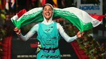 Iran's first female triathlete