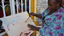 Mchoraji mahiri asiyeona nchini Uganda