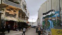 バンクシー、パレスチナに「世界最悪の長めのホテル」