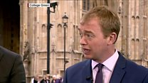 Farron condemns 'attack on business'