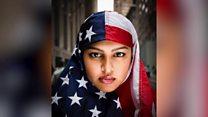 抵抗運動の象徴となり 星条旗をかぶったムスリム女性に聞く