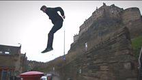 Parkour video chooses Trainspotting scene