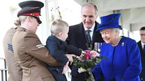 Toddler reluctant to meet the Queen