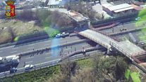 Italian motorway bridge collapses