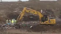 Missing airman landfill search continues