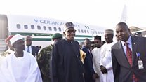 Buhari flies back home