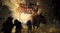 Así celebran al patrón de los pirotécnicos en Tultepec, 2 meses después de la mayor tragedia con fuegos artificiales de México
