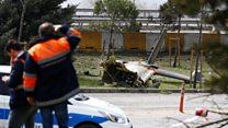 Debris at Turkey helicopter crash site