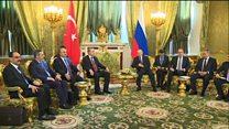 گفتگوی اردوغان با پوتین درباره جنگ سوریه