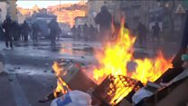 Protests turn violent in Naples
