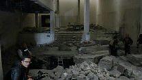 بالفيديو: ما تبقى من متحف الموصل التاريخي