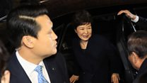 S Korea's Park Geun-hye returns home