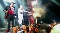 Imágenes dentro del concierto del Indio Solari en Argentina en el que murieron dos personas