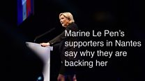 Marine Le Pen's supporters in Nantes