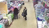 CCTV shows 'Pick-Pocket Queen' at work