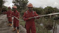 இந்தோனேஷியா: காட்டுத்தீடுலிருந்து காக்குமா நீர்வேலி?