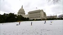 Slopes by US Capitol 'open' for sledging