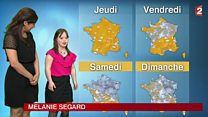 Woman with Down's syndrome presents French weather