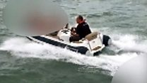 Footage shows RIB boat being driven ahead of Osborne Bay crash death