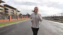 A atleta que perde os sentidos quando corre