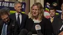 Marine A's wife 'delighted' at appeal verdict