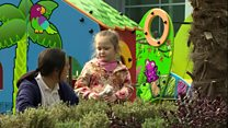 Children's hospital garden playground opens