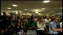 The moment staff at Medway NHS Foundation Trust were told it had come out of special measures