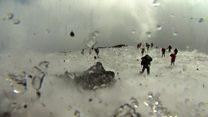 Moment BBC crew caught in Etna eruption