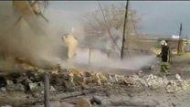 सीरिया में मस्जिद पर हवाई हमला