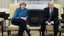 Trump meets Merkel: Awkward?