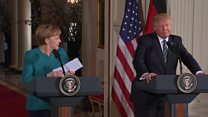 Trump suggests he and Merkel wiretapped