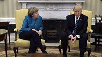Перша зустріч Трампа і Меркель