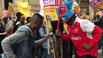 الآلاف يتظاهرون في لندن رفضا للعنصرية