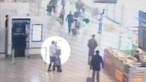 لحظة استلاء مهاجم على سلاح شرطية في مطار اورلي