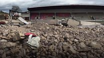 Two stands demolished at Nene Park