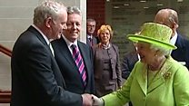 Queen and Martin McGuinness shake hands