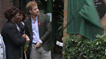 Prince Harry visits Diana Aids charity