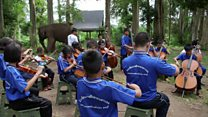 The orchestra for blind children