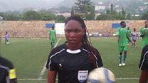 Mwanamke mwamuzi stadi wa mechi Burundi