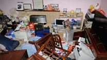 Footage released of ransacked home